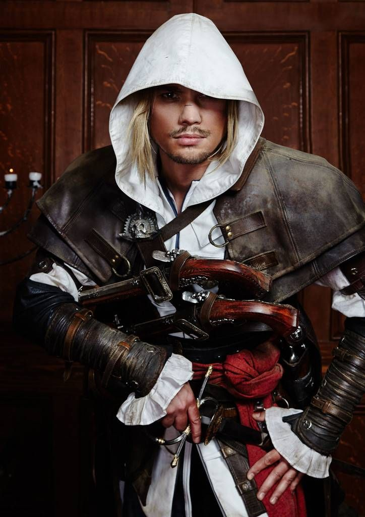 Full Men's costume designed by a favourite at London Fashion Week.  Get this one-off assassin outfit.