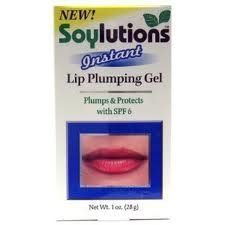 Soylutions SPF-6 Instant Lip Pumping Gel 1oz. Each (3 PACK) by Soylutions. $14.41. Made with Soy Proteins And Spf 6. Plumps Lips In Seconds. Long Lasting, SPF 6 , Plumps, Protects. Have you ever dreamt of full, luscious lips like the movie stars, but didn't want the pain and cost from collagen injections? Soylutions Instant lip plumping gel is your answer, combined with soy proteins and a protective SPF 6 rating Soylution Instant plumps up lips giving you the look yo...