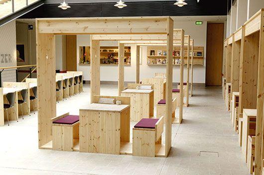 Dansk Unusual Cafe Interior Design with Eye Catching Furniture