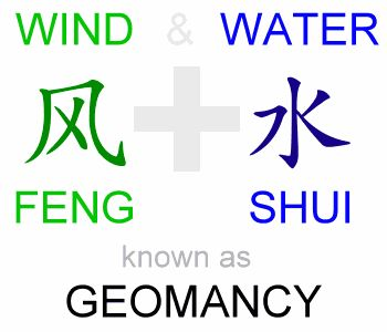 The words Feng Shui in Chinese literally means Wind and Water. In Asia, it is popularily called Geomancy. And a practitioner is known as a Geomancer. Geomancy emcompass not only Feng Shui but also the various other Chinese divinity methods. The Chinese have long observed that some surroundings are better then others, and for centuries they have used geomancy to improve the quality of life.
