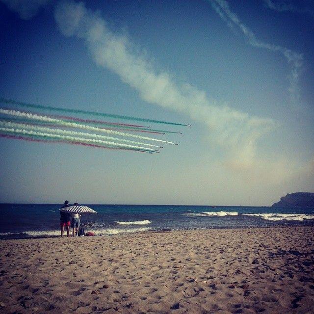 Frecce tricolori a #Cagliari #sardegna #sardinia