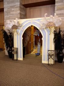 Arabian Nights Theme.  Use brighter colors and add green palm trees and white twinkle lights