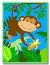 The Kids Room It's A Jungle Out There Wall Plaque, Monkey