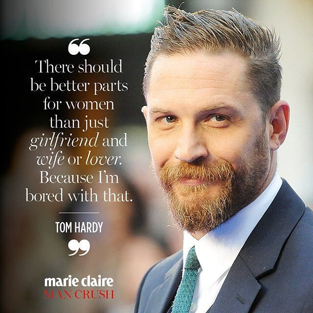 From Marie Claire Australia magazine: Hello #TomHardy, our #marieclairemancrush of the week!