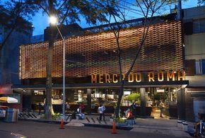 Construído na 2013 na Cidade do México, México. Imagens do Rojkind Arquitectos. Photo: Jaime Navarro. Concebido como um espaço para abrigar expressões da rica cultura gastronômica contemporânea e mexicana, o Mercado Roma cria uma ênfase especial no...