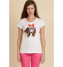 Camiseta perro con lazo de Rosalita Mc Gee