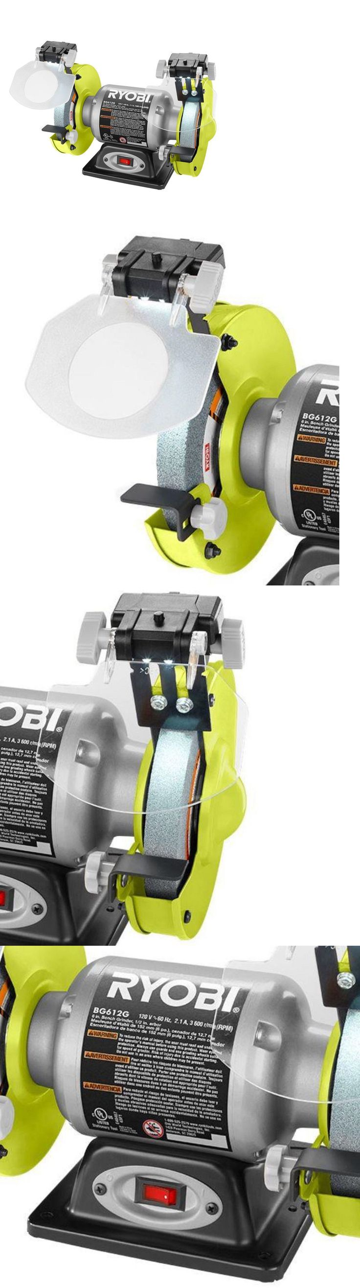 Bench Grinders 42277: Ryobi 2.1-Amp 6 In. Bench Grinder With Led Lights Heavy Gauge Steel Power Tool -> BUY IT NOW ONLY: $59.79 on eBay!