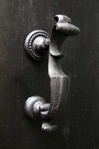 Door Knocker - Black Curve