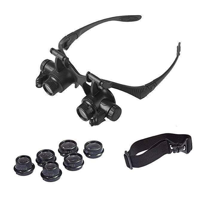 Magnifying Glass 20X LED Illuminated Jeweller Magnifier Jewellery Loupe Eye Lens