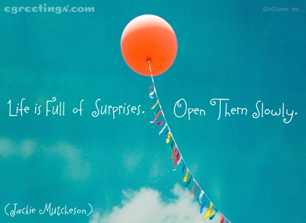 Life Is Full of Surprises (Postcard)