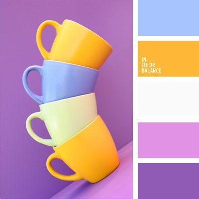 amarillo cálido, amarillo sol, color lila, color soleado, combinación de colores para decorar interiores, de color malva, de color violeta, elección del color, lila suave, matices fríos y cálidos, selección de colores para el diseño de interiores.