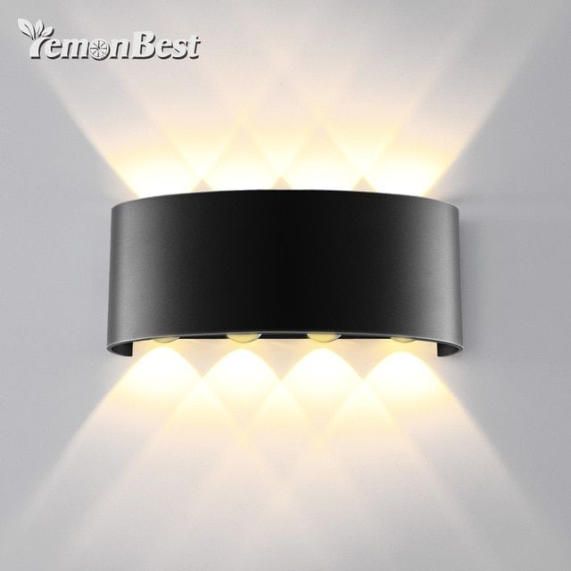8w 8led Cob Modern Minimalist Double Head Lamp Up And Down Wall