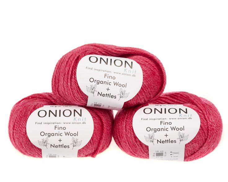 Pink V813 - No. 4 - Fin økologisk uld med nældefibre - Onion - Strikkepinden - Nøgler á 50 gram