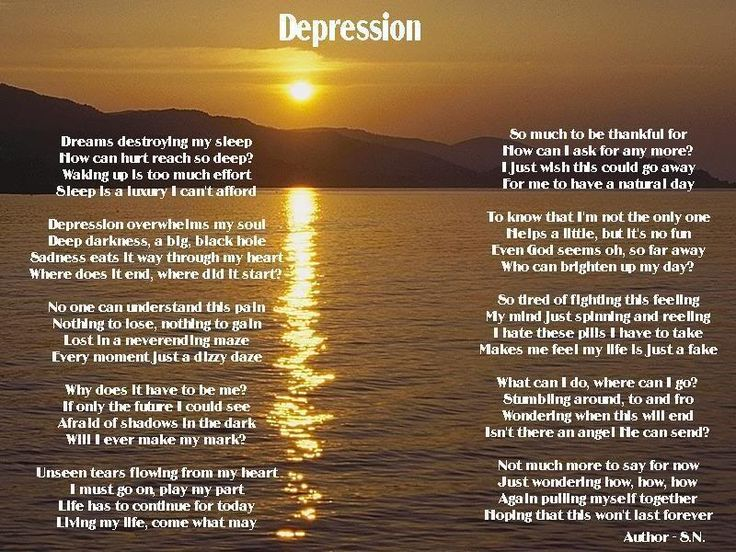17 Best ideas about Poems About Depression on Pinterest ...