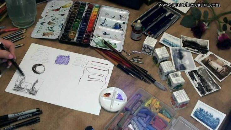 """Curso de acuarela online """"Materiales de dibujo 2"""""""