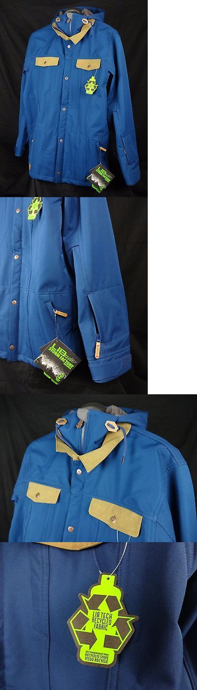Coats and Jackets 26346: Lib Tech Mens Downtown Jacket Size L Large Blue Msrp$ 230 -> BUY IT NOW ONLY: $130 on eBay!