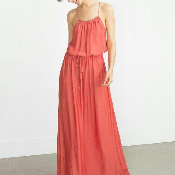 ($20 off thru offer button)Zara dress Brand new. Gorgeous color. Beautiful dress Zara Dresses Maxi