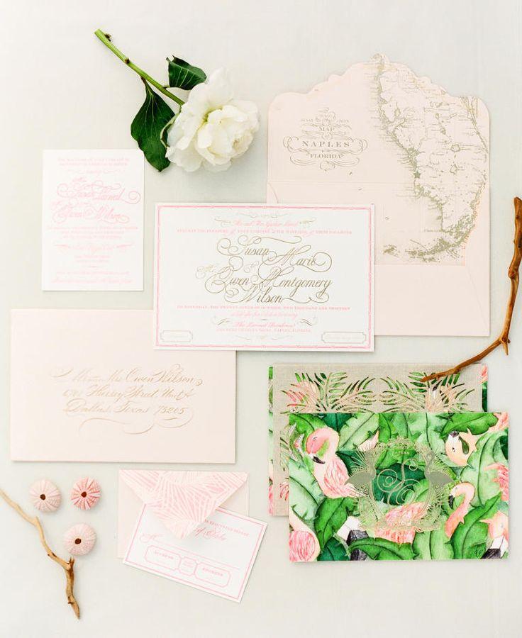 Tropical Affair Wedding Invitations | 20 Prettiest Wedding Invitations | https://www.theknot.com/content/ultimate-wedding-invitation-guide