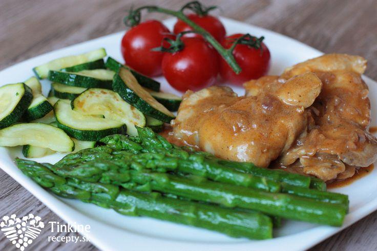 Vykostené kuracie stehná s falošnou demi glace a restovaná zelenina - Powered by @ultimaterecipe