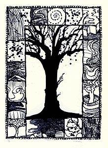 Lithographie - Pierre Alechinsky - D'arbre et d'encre