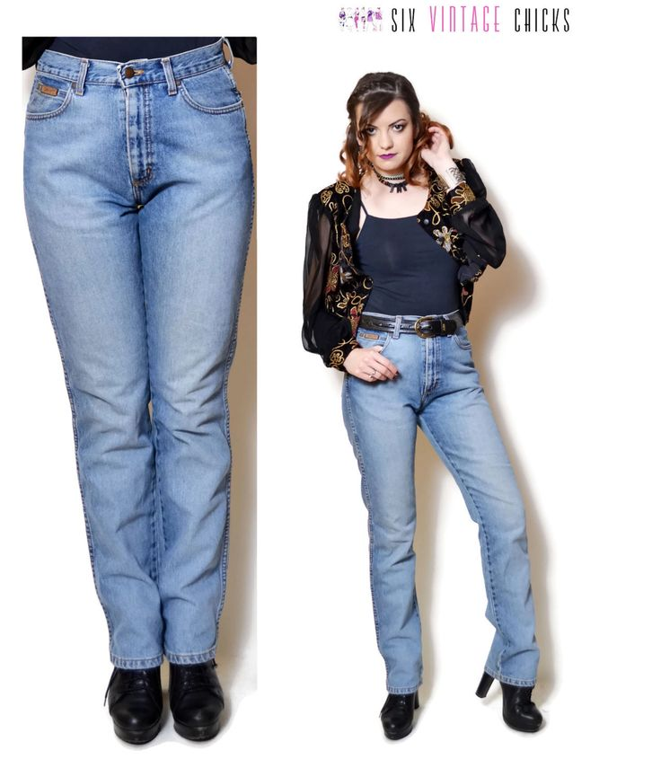 high waisted jeans women wrangler jeans denim pants vintage 90s clothing Women Clothing Minimalist womens Trousers rocker pants skinny jeans by SixVintageChicks on Etsy