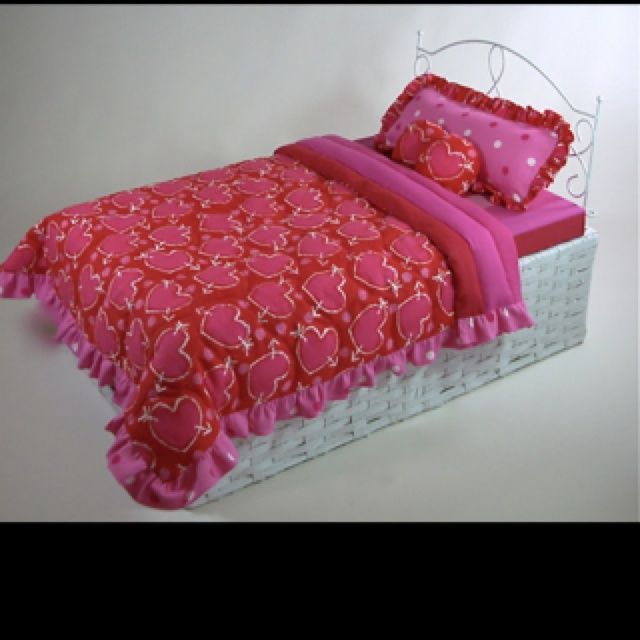Make This 18 Inch Doll Bed With A Wicker Basket And A Single Section