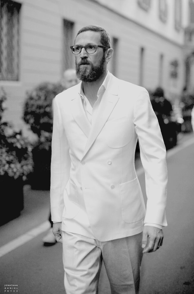 Menswear Style: Love Stefano Pilati's white double breasted jacket