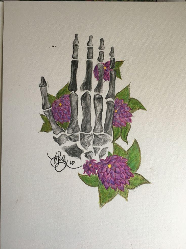 decay - Derwent inktense watercolour