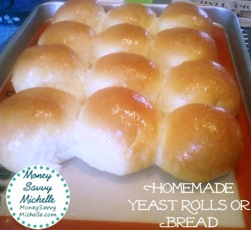 My favorite yeast rolls (or bread) #recipe http://www.moneysavvymichelle.com/homemade-yeast-rolls-or-bread-recipe