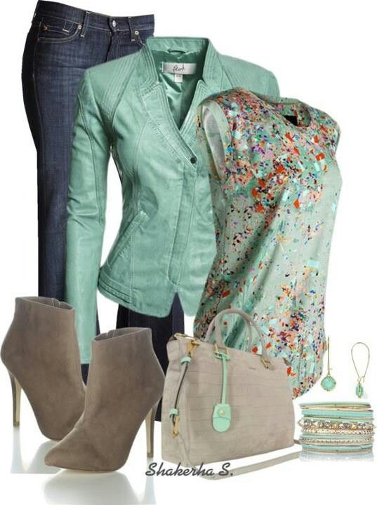 LOVING this leather moto in #Menthe