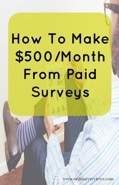 For those of you who are in need of extra income each month, why not do paid surveys? Some of you may still be studying in college or in university, or maybe you're a stay-at-home parent; you can do surveys and earn money online.