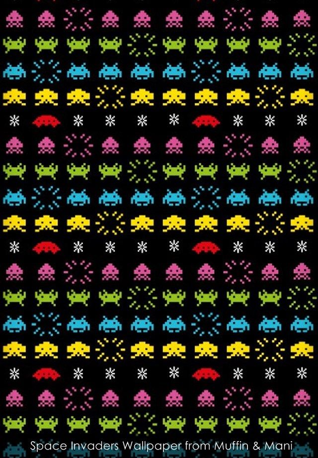 Space Invaders wallpaper from Muffin