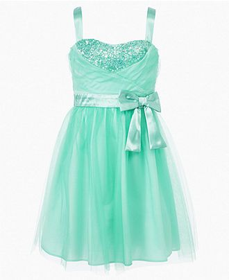 Ruby Rox Girls Dress, Girls Tulle Sequin Dress - Kids Girls 7-16 - Macy's