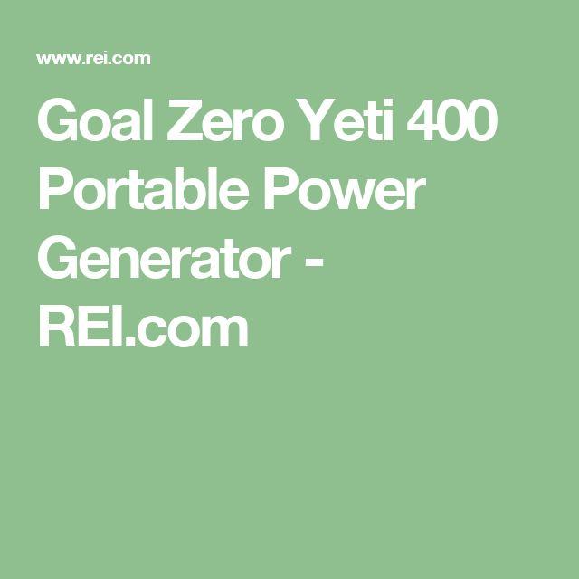 Goal Zero Yeti 400 Portable Power Generator - REI.com