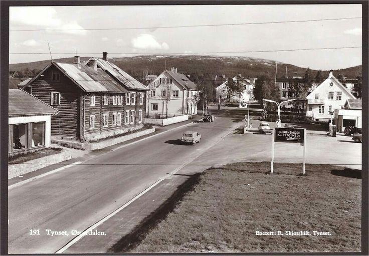 Tynset, Østerdalen. Skjøtskift 191. Bjørnsmoen Gjestgiveri. BP. 1960-tallet