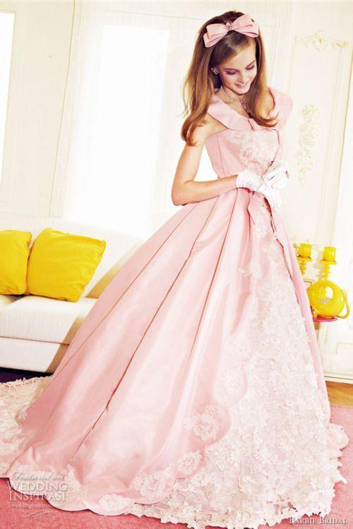 まるで本物のお人形♡ピンクのプリンセスの花嫁衣装・ウェディングドレス・カラードレスまとめ一覧♡