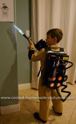 Homemade Ghostbusters Costume: Here is our Completely Homemade Ghostbuster and StayPuft. All but the Ghostbuster patches were homemade. We had a great time and the Stay Puft was the