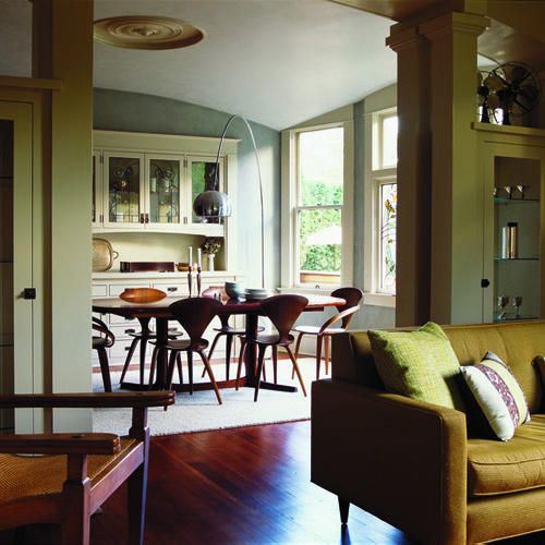 Craftsman Inspired Columns And A Domed Plaster Ceiling Show Off Modern Artisan Skills