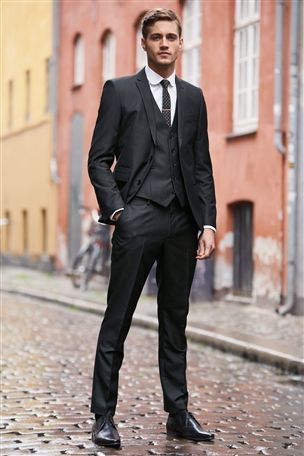 Buy Charcoal Suit: Tailored Fit Jacket from the Next UK online shop