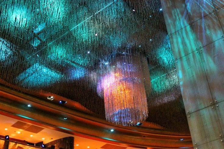The Crown Casino Melbourne; Famco Lighting in Australia created this stunning Chandelier. It covers an entire ceiling space and is a great attraction to the Casino.