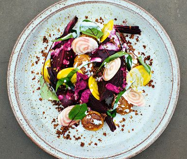 Beets with Chèvre Yogurt and Isterband Recipe