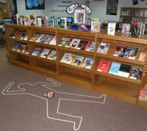 Library Display Idea for Mystery Books!