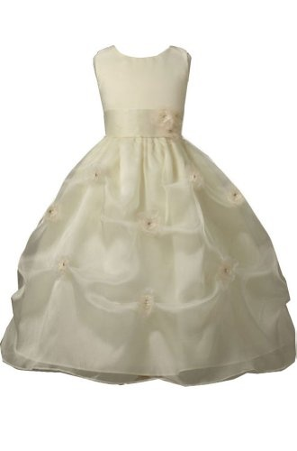 AMJ Dresses Inc Ivory Flower Girl Wedding Dress « Dress Adds Everyday