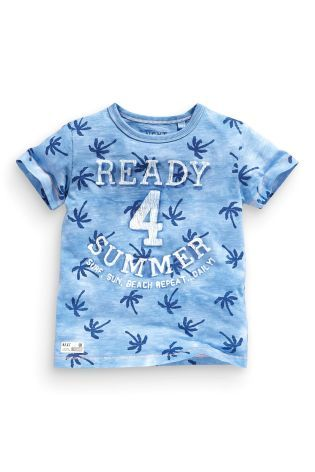 Buy Blue 'Ready For Summer' T-Shirt (3mths-6yrs) from the Next UK online shop