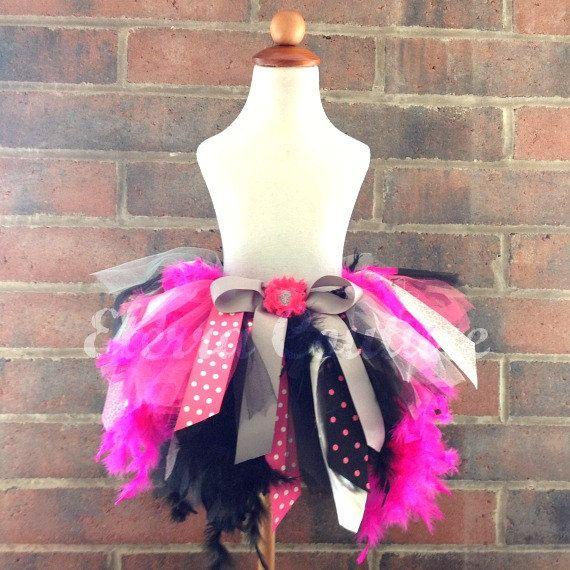 Feather Jumble Skirt Tutu Dress Pageant Toddler