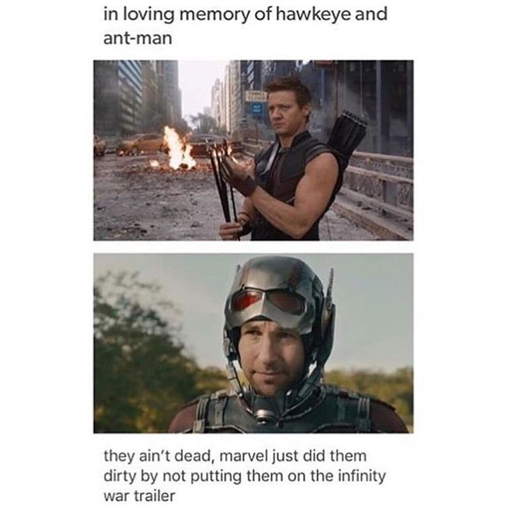 Especially Hawkeye, he's one of the original avengers, so he really should have had a talking part, even more so than vision.