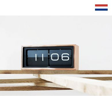 Leff Amsterdam- Brick lti530. Flip Clock. Made in the Netherlands.