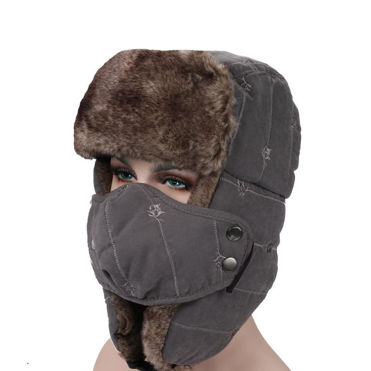 Mens Velvet Winter Russian Hats Outdoor Skiing Windproof With Masks Lei Feng Caps at Banggood