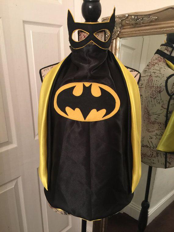 Boys Batman cape & mask by Oneslittletreasures on Etsy