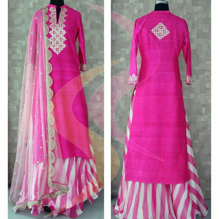 So festive season is on and here you go with your pretty pink♡ traditional dress!